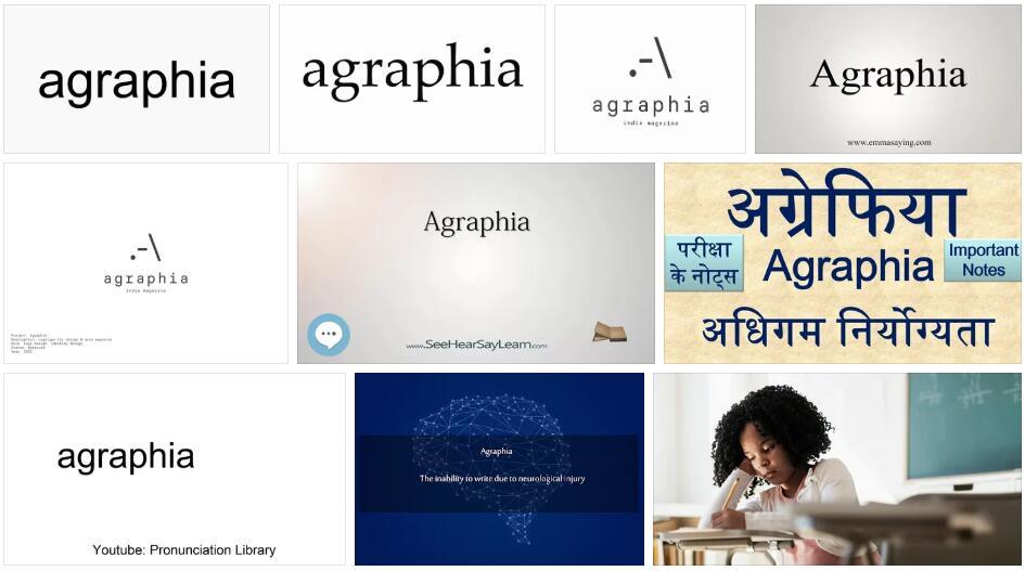 Agraphia